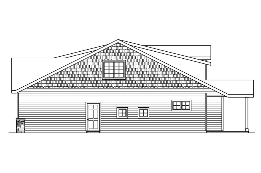 108-1756: Home Plan Right Elevation