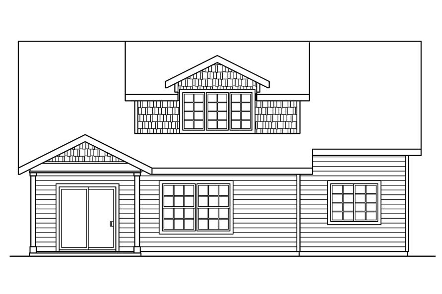 108-1756: Home Plan Rear Elevation