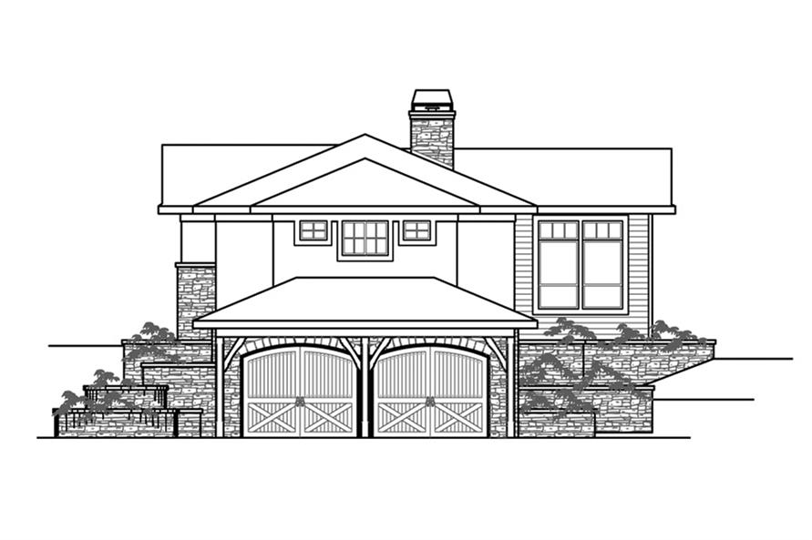 108-1862: Home Plan Right Elevation