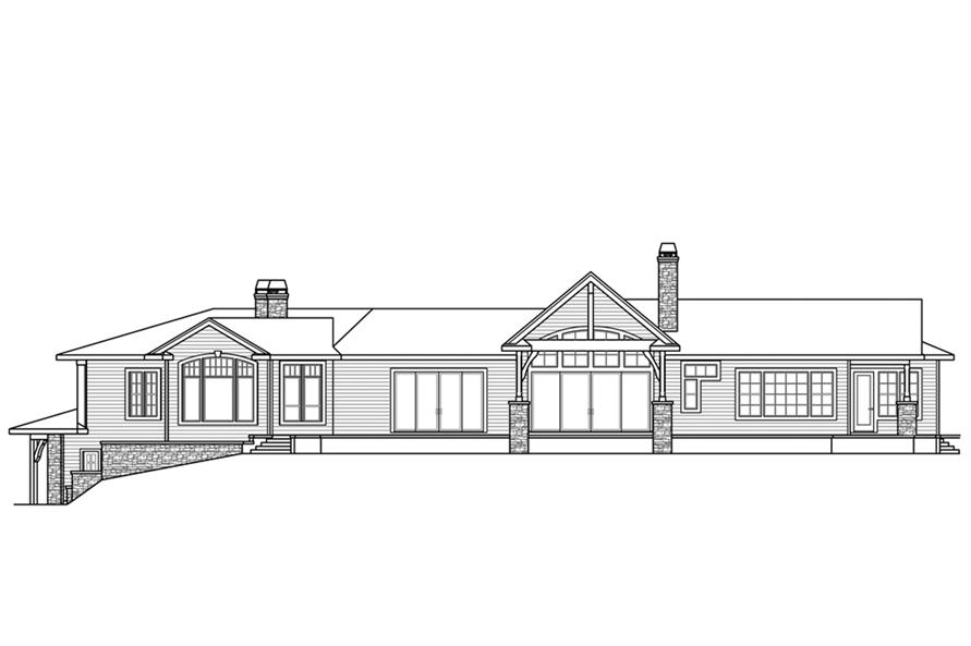 108-1862: Home Plan Rear Elevation
