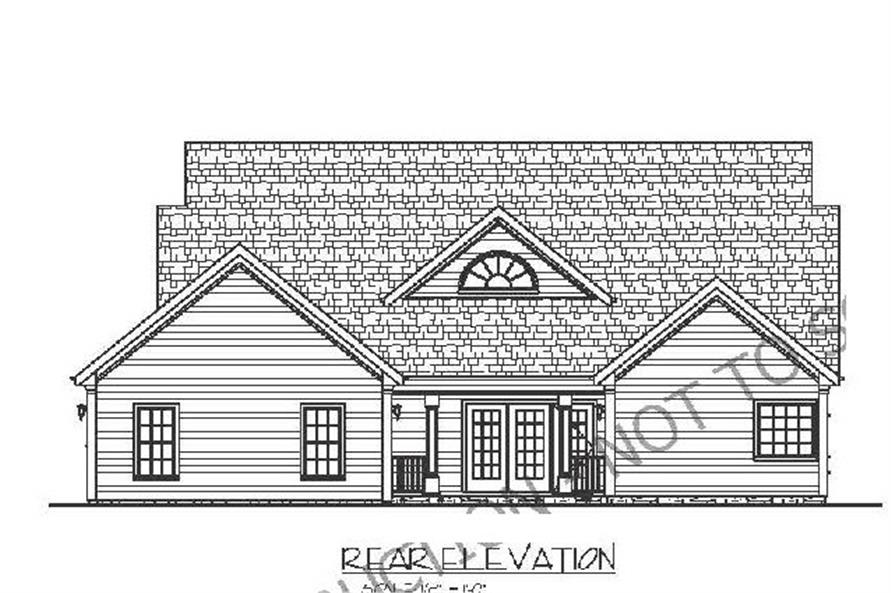 109-1005: Home Plan Rear Elevation