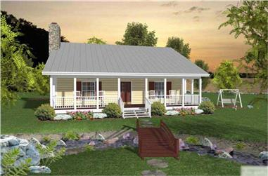 2-Bedroom, 953 Sq Ft Country House Plan - 109-1006 - Front Exterior