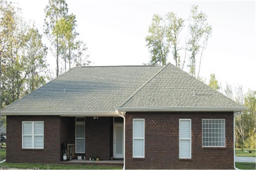 109-1086 house plan rear elevation