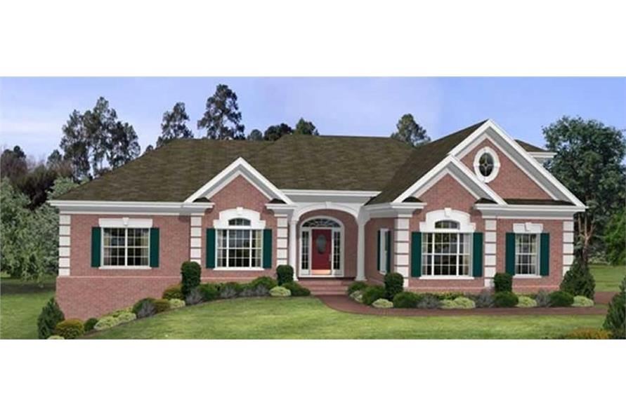 109-1103 house plan front elevation