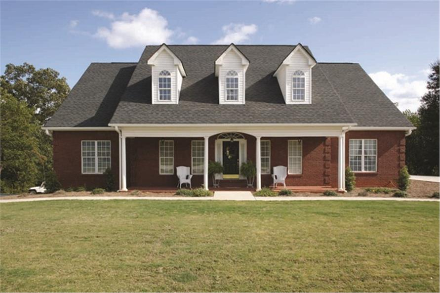 Color photograph of house plan # 14436