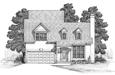 3-Bedroom, 1526 Sq Ft European Home Plan - 109-1113 - Main Exterior