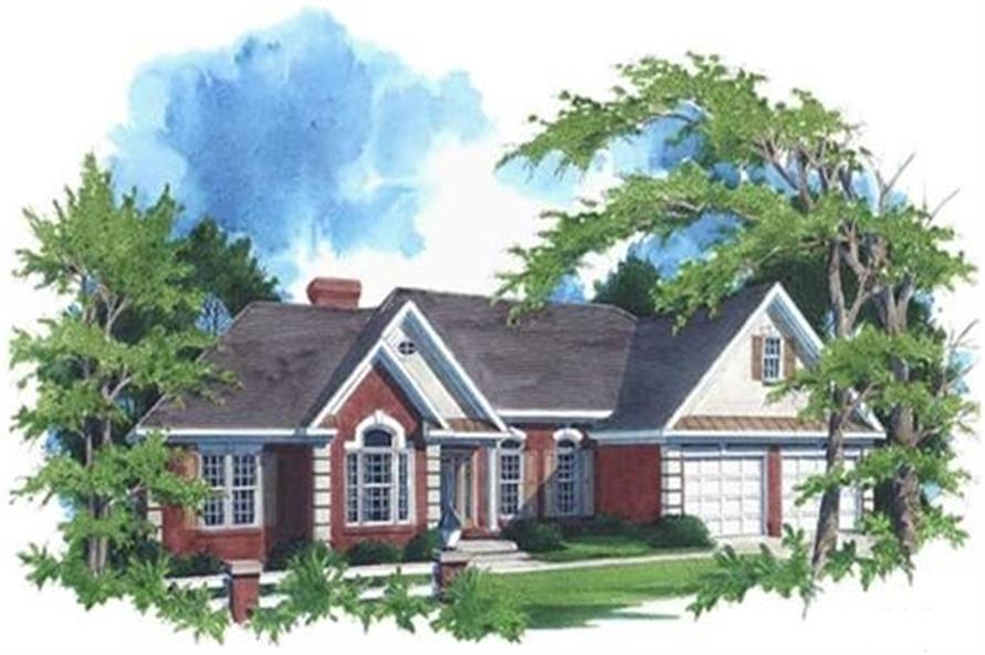 109-1174 house plan front elevation
