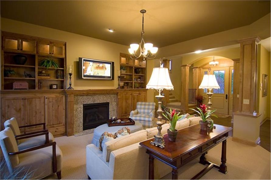 109-1191 home plan great room