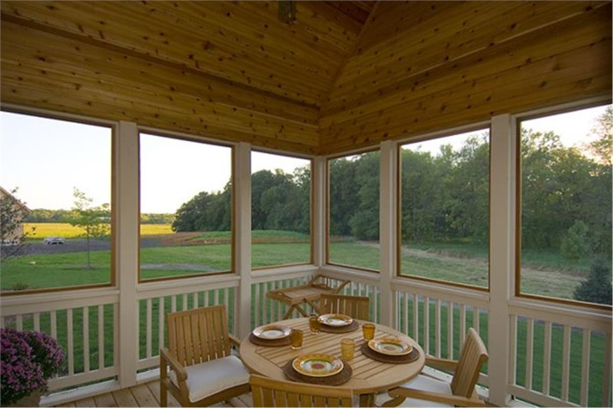 109-1191 house plan screened porch