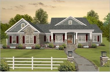 Home Plan #109-1193 front rendering