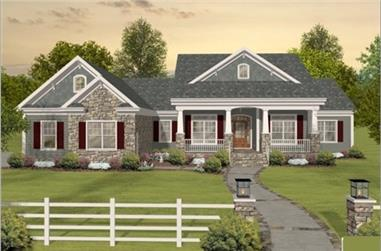 3-Bedroom, 2156 Sq Ft Country House Plan - 109-1193 - Front Exterior