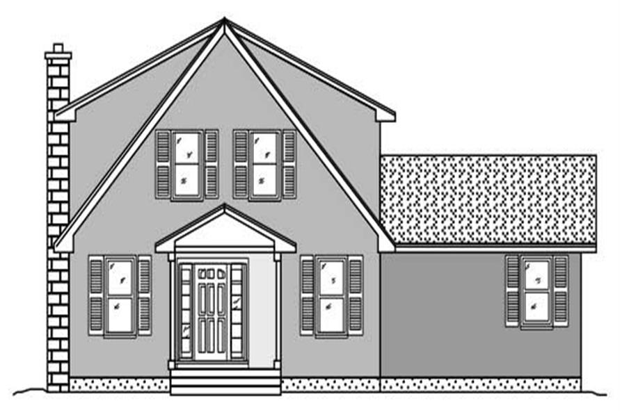 This image shows the front elevation of these Unique House Plans.