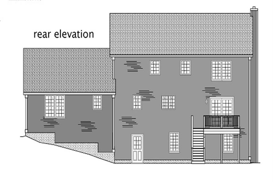 110-1110: Home Plan Rear Elevation