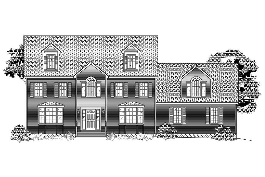 You don't see black and white front elevations like this much anymore -- check out the House Plans, though.