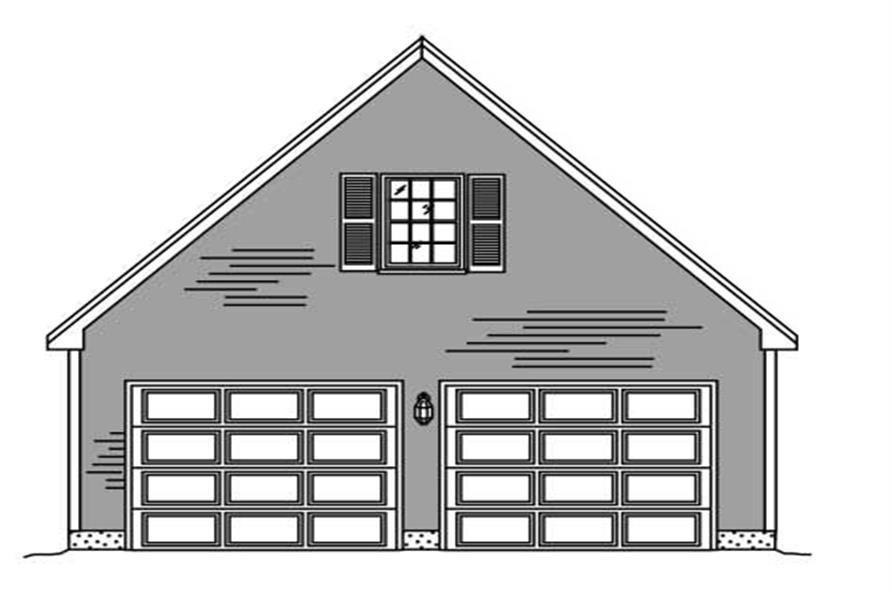 Here is another front elevation for another garage plan.