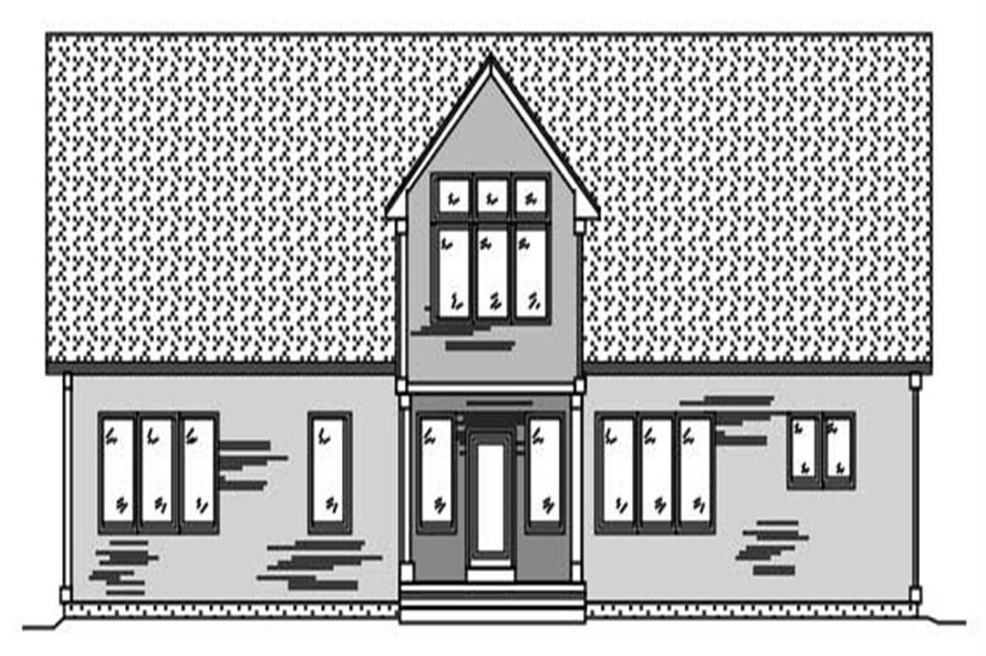This image is a black and white front elevation of these Homeplans.
