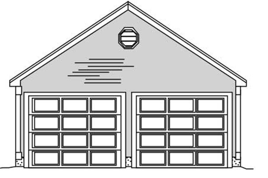 "This is a monotone front elevation of these ""blah"" Garage Plans."