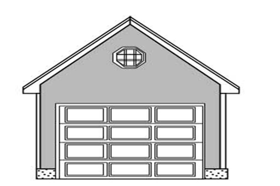 The image above is the front elevation of these garage plans.