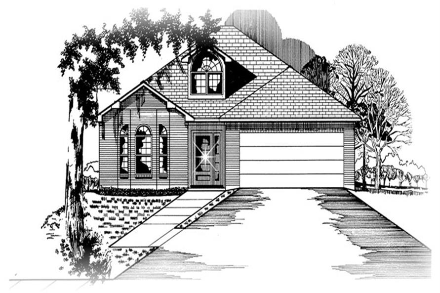 Front elevation of Small House Plans home (ThePlanCollection: House Plan #113-1006)