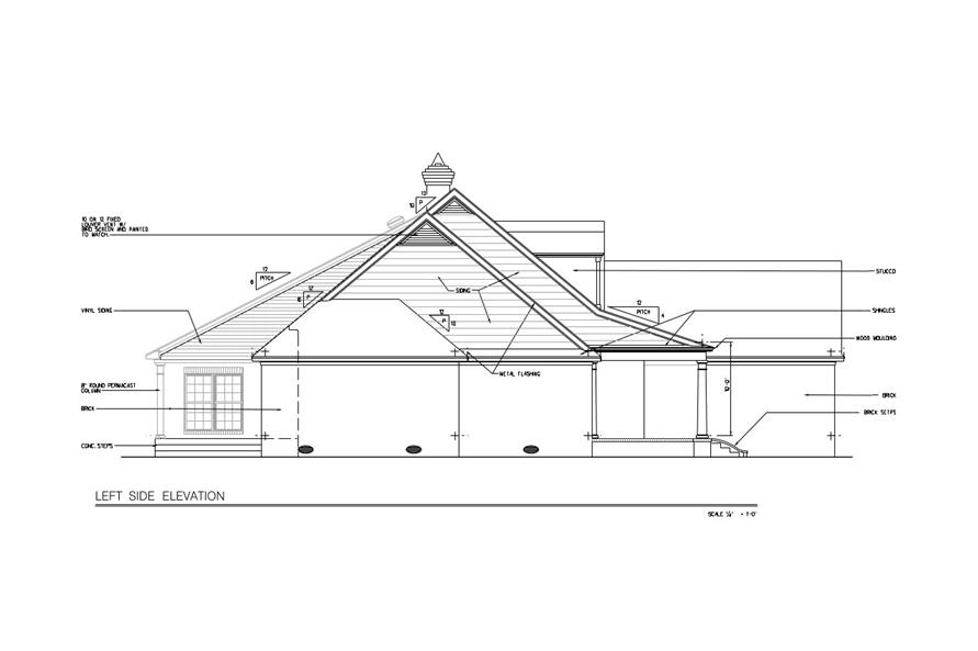 113-1017: Home Plan Left Elevation