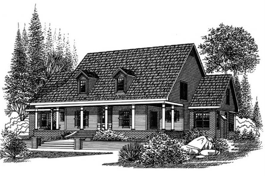 Main image for house plan # 6021