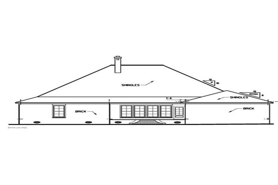 113-1049: Home Plan Rear Elevation