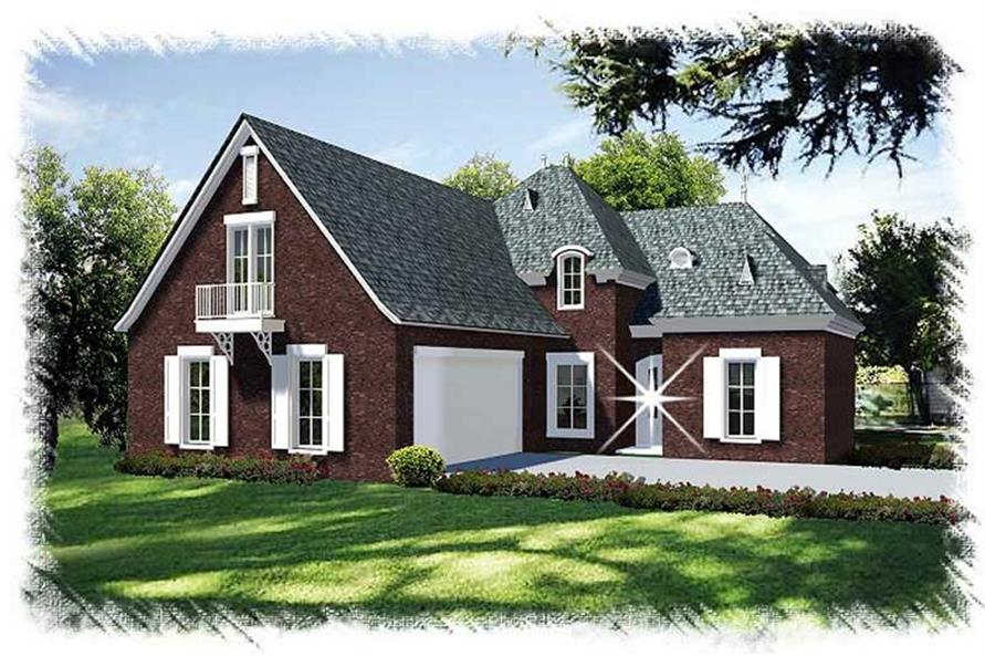 Main image for house plan # 9523