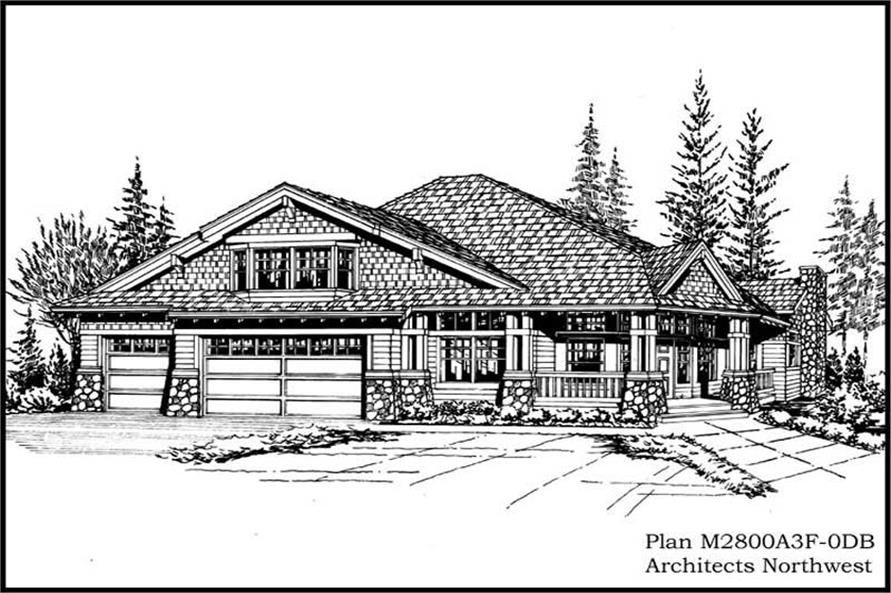 Main image for house plan # 14797