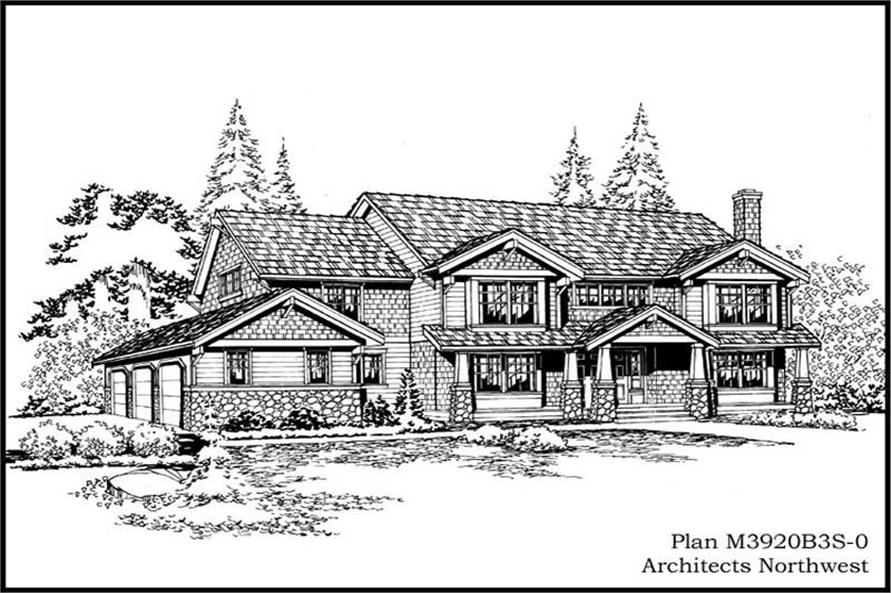 Main image for house plan # 15037