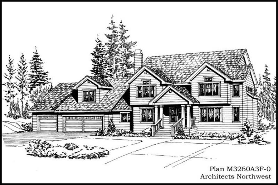 Main image for house plan # 14894