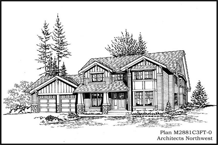 Main image for house plan # 14822
