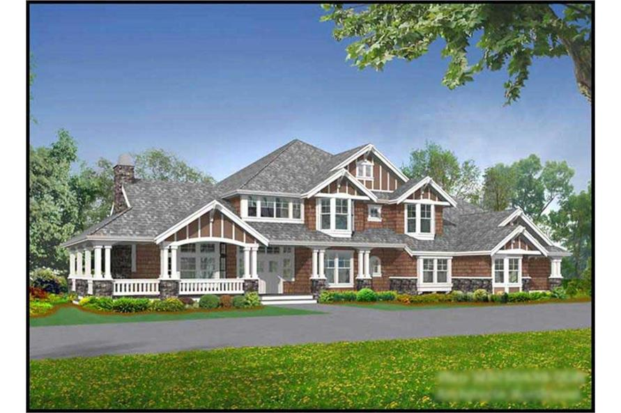 Main image for country house plan # 15140