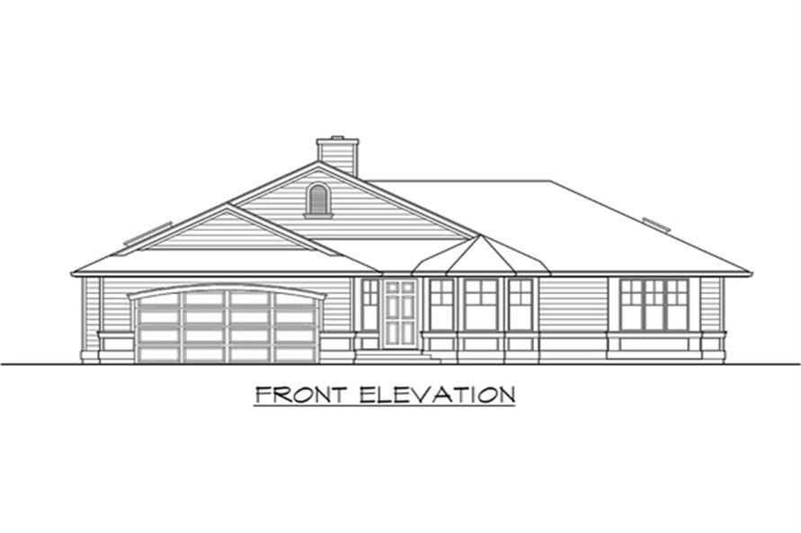 115-1113: Home Plan Front Elevation