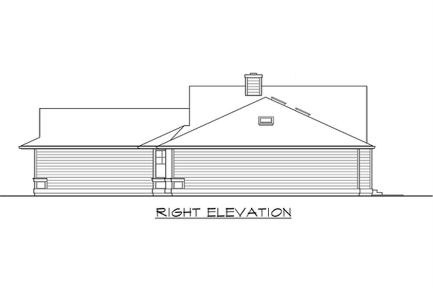 115-1113: Home Plan Right Elevation