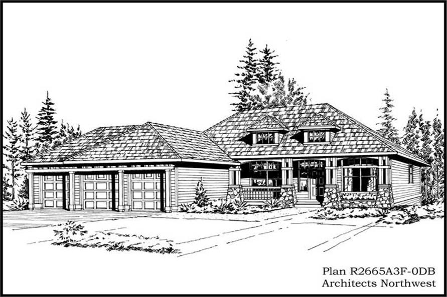 Main image for house plan # 15265