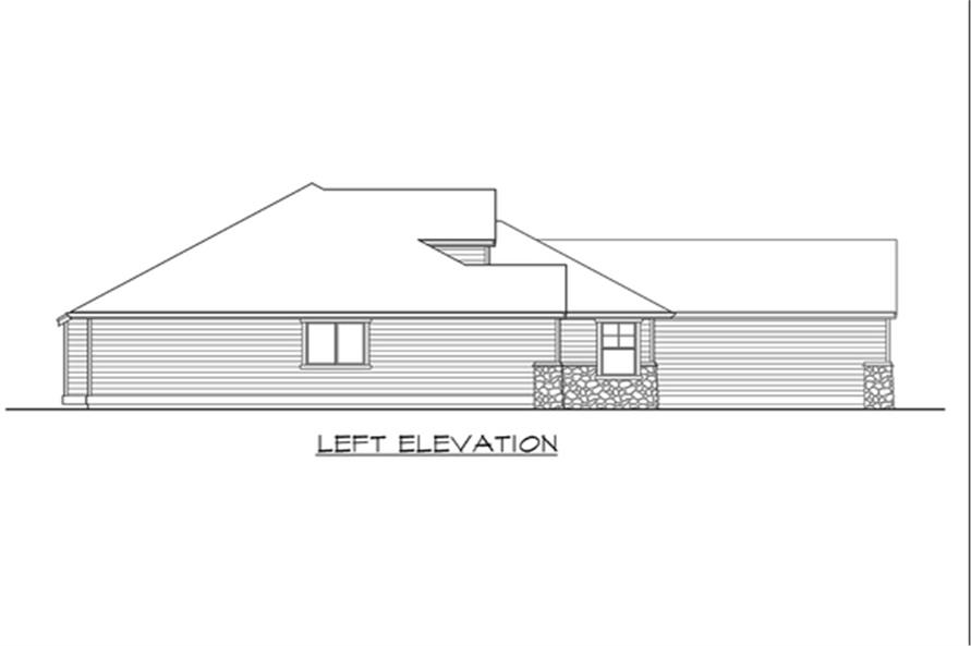 115-1133: Home Plan Left Elevation