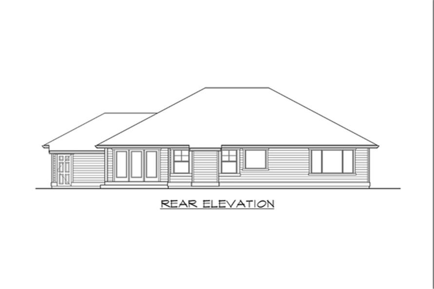 115-1133: Home Plan Rear Elevation