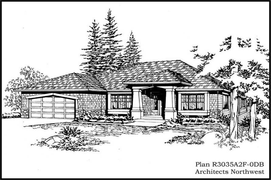 Main image for house plan # 15268