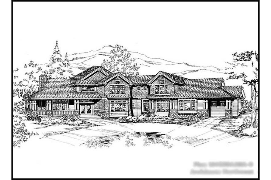 Main image for house plan # 15068