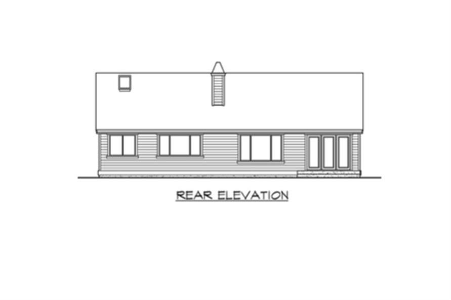 115-1224: Home Plan Rear Elevation