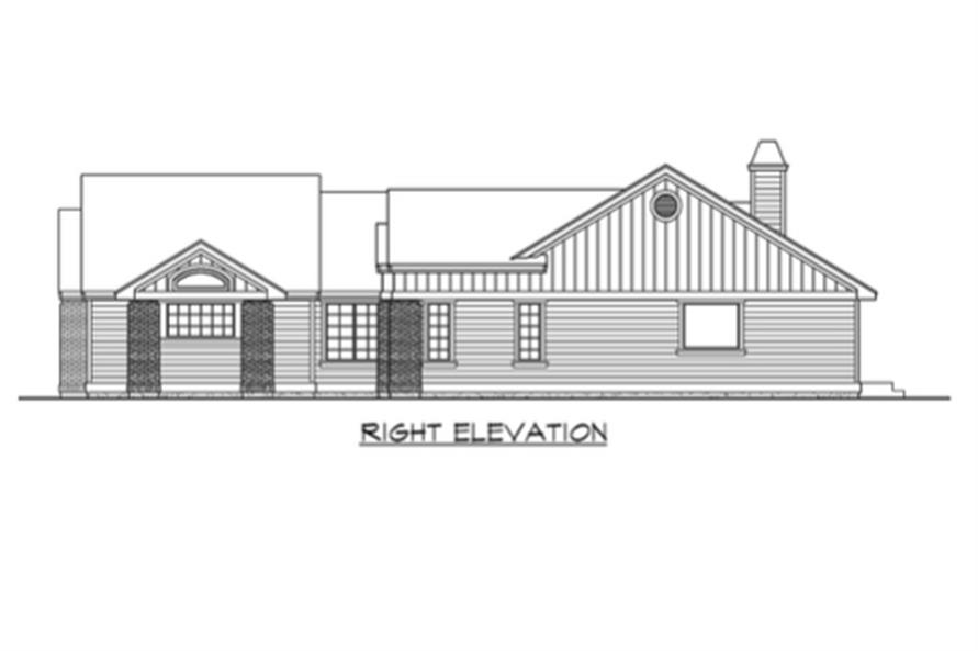 115-1224: Home Plan Right Elevation