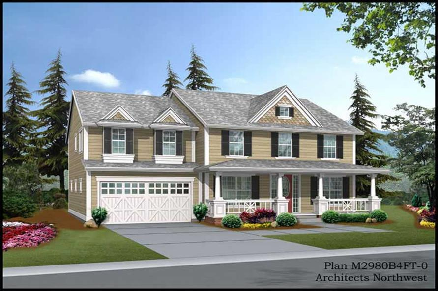 Main image for house plan # 9319
