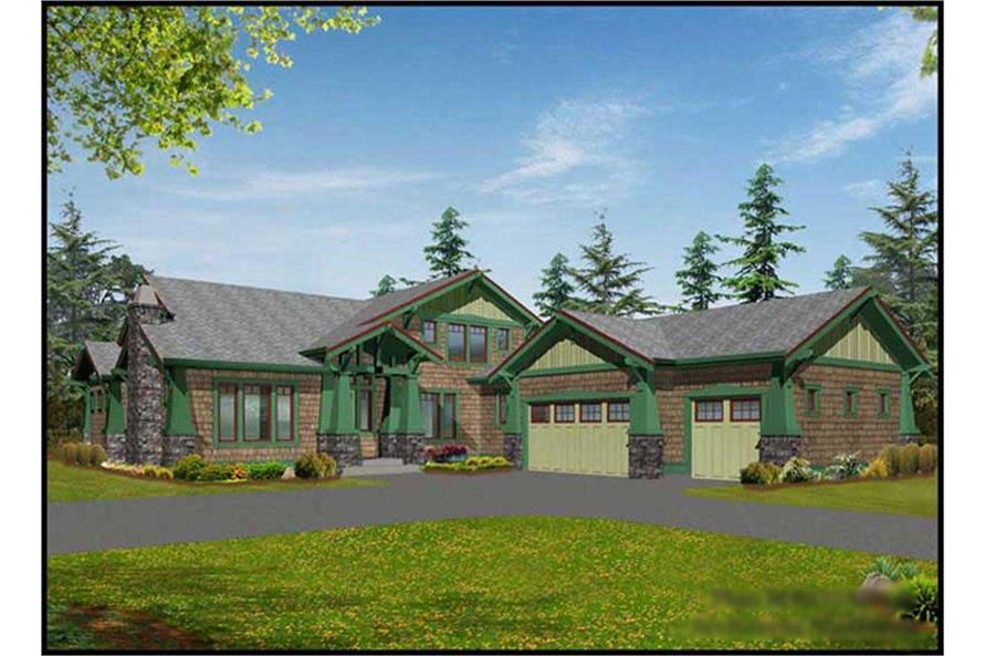 Craftsman Home Plans color front elevation.