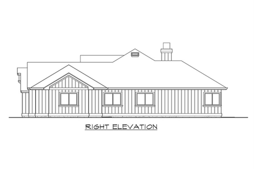 115-1264: Home Plan Right Elevation