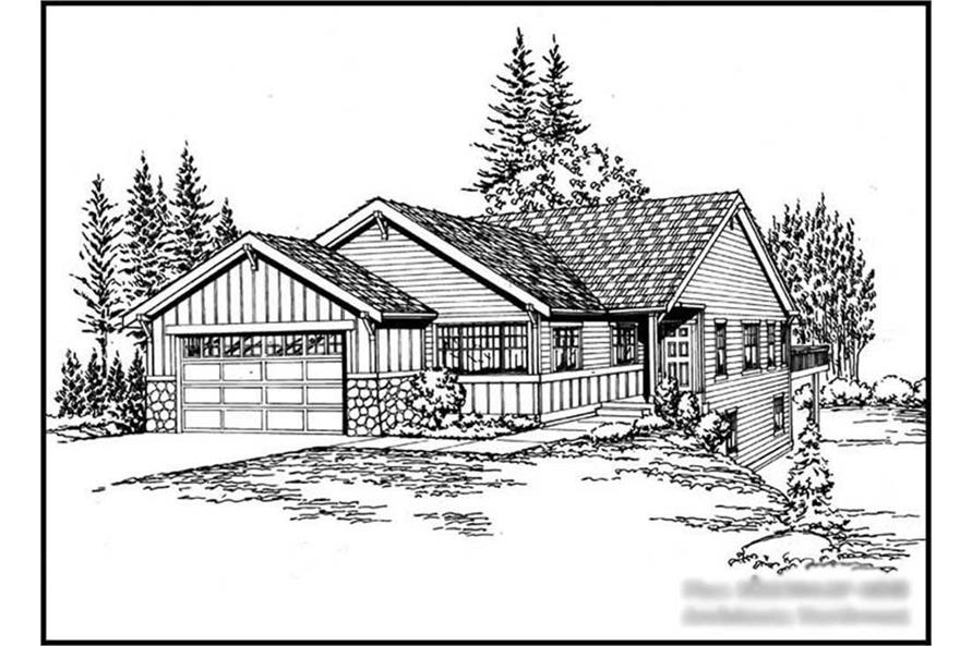 Main image for house plan # 15215