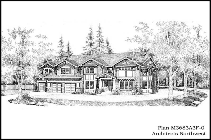 Main image for house plan # 15002