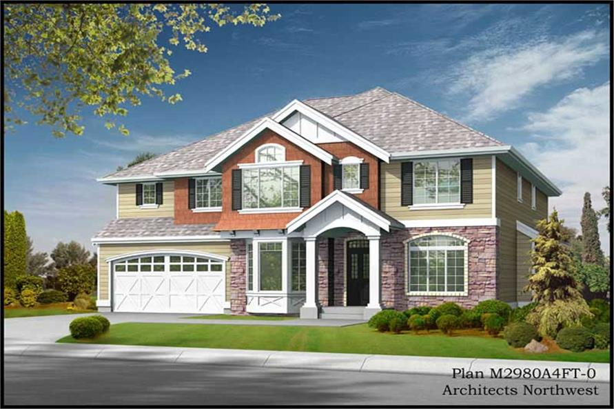 Main image for house plan # 9318