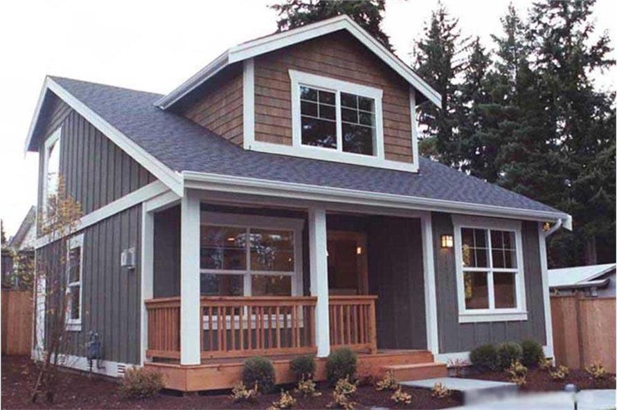 2-Bedroom, 1000 Sq Ft Bungalow Home Plan - 115-1370 - Main Exterior