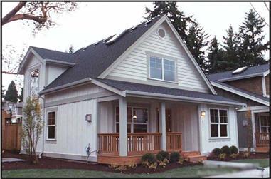 2-Bedroom, 1000 Sq Ft Bungalow Home Plan - 115-1371 - Main Exterior