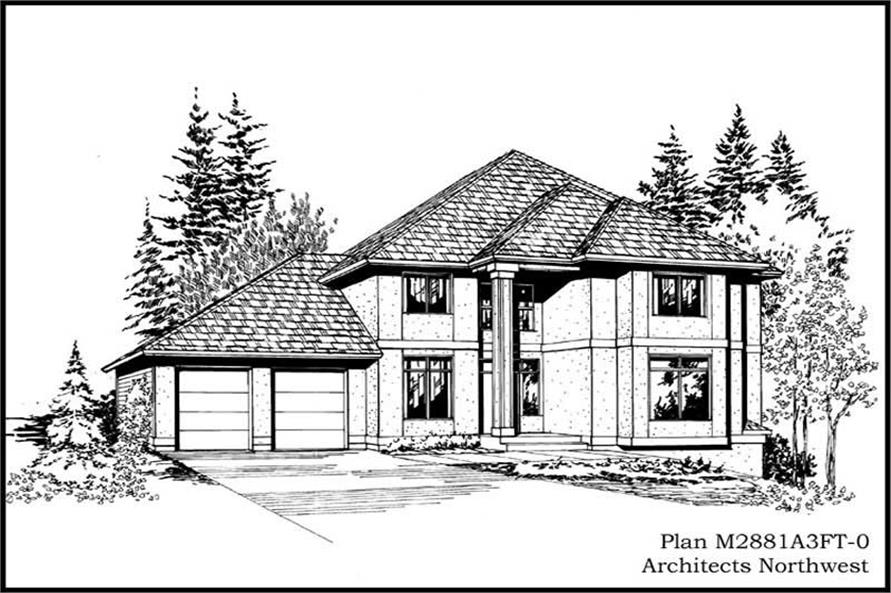 Main image for house plan # 14820